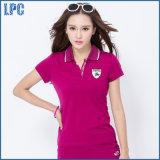 공장 고품질 형식 여자 높은 고리 폴로 t-셔츠