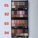 Gamma di colori dell'ombra di occhio con la gamma di colori minerale dell'ombra di occhio della spazzola 10colors