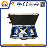 Casella di memoria professionale nera della cassa del carrello dello strumento con gomma piuma su ordinazione (HT-3029)