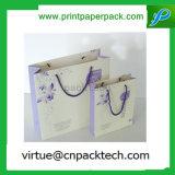 Saco luxuoso personalizado do papel de embalagem Do presente para o empacotamento do vestuário