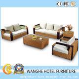 Angolo stabilito della mobilia del blocco per grafici del rattan della Tabella di alluminio della mobilia per esterno
