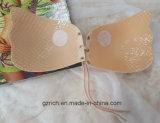 El silicón sin tirantes auto-adhesivo del gel del palillo del vendaje de las mujeres empuja hacia arriba el sujetador invisible respirable