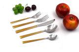 Нержавеющая сталь оптового Cutlery золота высокого качества установленная роскошная