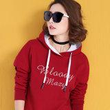 Женщин пуловера способа высокого качества Hoodies изготовленный на заказ красных