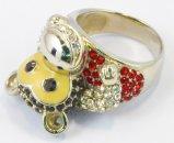 2016 de Ring van het Messing van de Manier van vrouwen met de Glanzende Juwelen van CZ