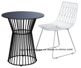Morden Industrial Dining Metal Wire Steel Top Table
