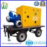33kw 디젤 엔진 - 몬 원심 각자 프라이밍 하수 오물 펌프