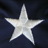 Clôture suspendue 210d Oxford Polyester American Embroidered Star USA Flags (J-NF16P18002)