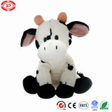 Blanc de la vache assis face mignon Simple Peluche promotionnelle