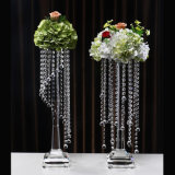 3 Bras Hot Sale K9 Clear Crystal Candle Holder with Competitive Price (KS04504)