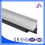 Perfil de alumínio para a tira do diodo emissor de luz/extrusão de alumínio perfil da iluminação