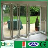 Portello di piegatura di vetro di alluminio di nuovo disegno con il vetro temperato