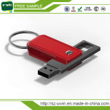 De klassieke Aandrijving Van uitstekende kwaliteit van de Flits van het Leer USB voor de Giften van de Bevordering
