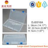 Boîte en plastique d'espace libre de mémoire de 18 Comptment