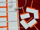 新しいデザイン創造的な印刷できる13.56MHz Hf IDは宝石類RFIDの札を欠く