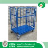 De acero plegable de la jaula Carro para Depósito de almacenamiento de Wih aprobación del CE