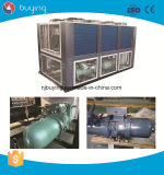 Refrigerador refrescado aire industrial del tornillo de la baja temperatura para la agua de mar