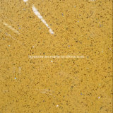 Laje amarela de superfície contínua da pedra de quartzo