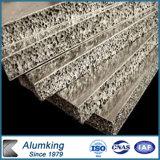 Revestimento de poliéster Decoração de parede interior em espuma de alumínio de madeira