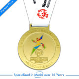 Medaglia del metallo di sport di gioco del calcio di esecuzione di abitudine di alta qualità
