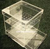 Étalage acrylique acrylique clair Cabient (BTR-L1009) de boîte de présentation