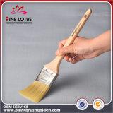 Pista material de la cerda del animal doméstico de la alta calidad con el cepillo de pintura puro similar de la cerda de la maneta de madera del álamo