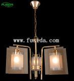 Iluminação de vidro do pendente do candelabro do grampo (D-9110/5)