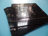 Circuito del PWB negro Soldermask de la tarjeta de 4 capas con oro de la inmersión