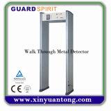 6 Zonas de Alta Sensibilidad caminar a través del detector de metales Precio