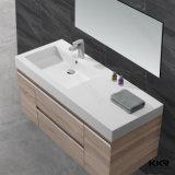 Искусственний каменный роскошный белый тазик шкафа встречной верхней части ванной комнаты