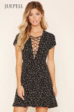 Wyldr Lace-up Mini Vestido