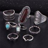Ring van het Gewricht van de Bloem van de Kleur van Anel de Uitstekende Tibetan Turkse Zilveren