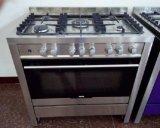 Estufa de cocina de 5 quemadores de pie con horno