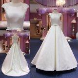 Шарик высокого качества выполненный на заказ отбортовывая платье венчания Mat-113 сатинировки