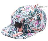 革パッチの花の屋外のキャンプの帽子が付いているキャンピングカーの帽子