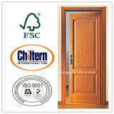 Porte coupe-feu d'entrée avec le certificat commercial de nomenclature, porte coupe-feu en bois de qualité