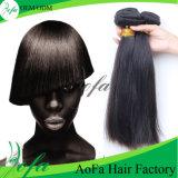 Человеческие волосы камбоджийской прямой девственницы естественные черные