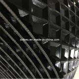 PVC木製プロセスのための大きいQuadrelパターン黒のコンベヤーベルト