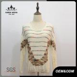Свитер пуловера способа шерстей женщин Striped