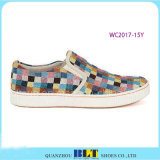Hohes Diamant-Segeltuch-beiläufige Schuhe