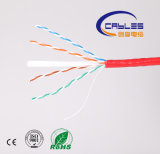 Кабель 305m/Box 23AWG изоляции CAT6 CCA/CCS PVC Jacket/PE