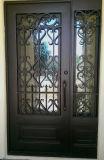 Высокое качество индивидуального горячий оцинкованный двери из кованого железа