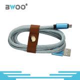 전화를 위한 가죽 데이터와 책임 Sync USB 데이터 케이블