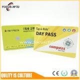 Cartão da alta qualidade MIFARE 1K/Ntag/DESFire RFID com tamanho e logotipo personalizados