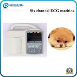 Seis canais de ECG digital portátil com ecrã táctil Veterinários da Máquina