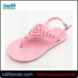 Различные цвета желе лук Flip флоп сандалии для девочек