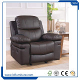 Modernes Couch-Möbel-Wohnzimmer-echtes Gewebe-einzelnes ledernes Sofa-Set