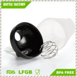 Kundenspezifische 400ml pp. Plastikmolkeprotein-Schüttel-Apparatflasche mit wischen Kugel