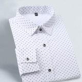 Herbst-nehmen der neuen Form-Männer langes Hülsen-Hemd-beiläufiges Hemd der passenden Männer ab