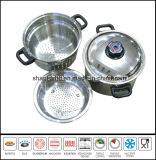 Acero inoxidable italiano Cuecepasta Set Pasta Pot